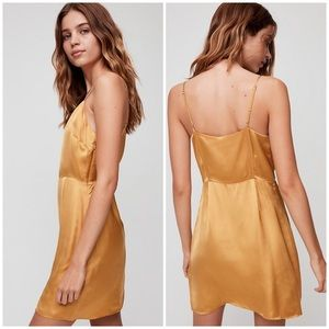 Wilfred Isabelle Satin Spaghetti Strap Slip Dress